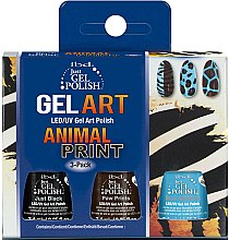 Voňavky, Parfémy, kozmetika Sada - IBD Just Gel Polish Animal Print Gel Art(nail/lacquer/7,4mlx3)
