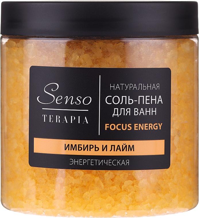"""Prírodná soľ a pena do kúpeľa """"Zázvor a limetka"""" - Senso Terapia Focus Energy"""