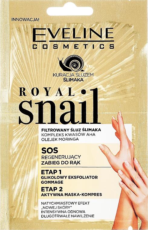Peeling a maska na ruky - Eveline Cosmetics Royal Snail Sos Regenerating Hand Treatment