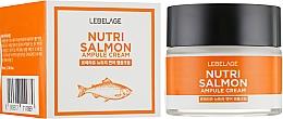 Voňavky, Parfémy, kozmetika Vyživujúci krém s lososovým olejom - Lebelage Ampule Cream Nutri Salmon