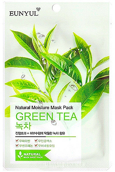 Hydratačná textilná maska s extraktom zo zeleného čaju - Eunyul Natural Moisture Mask Pack Green Tea