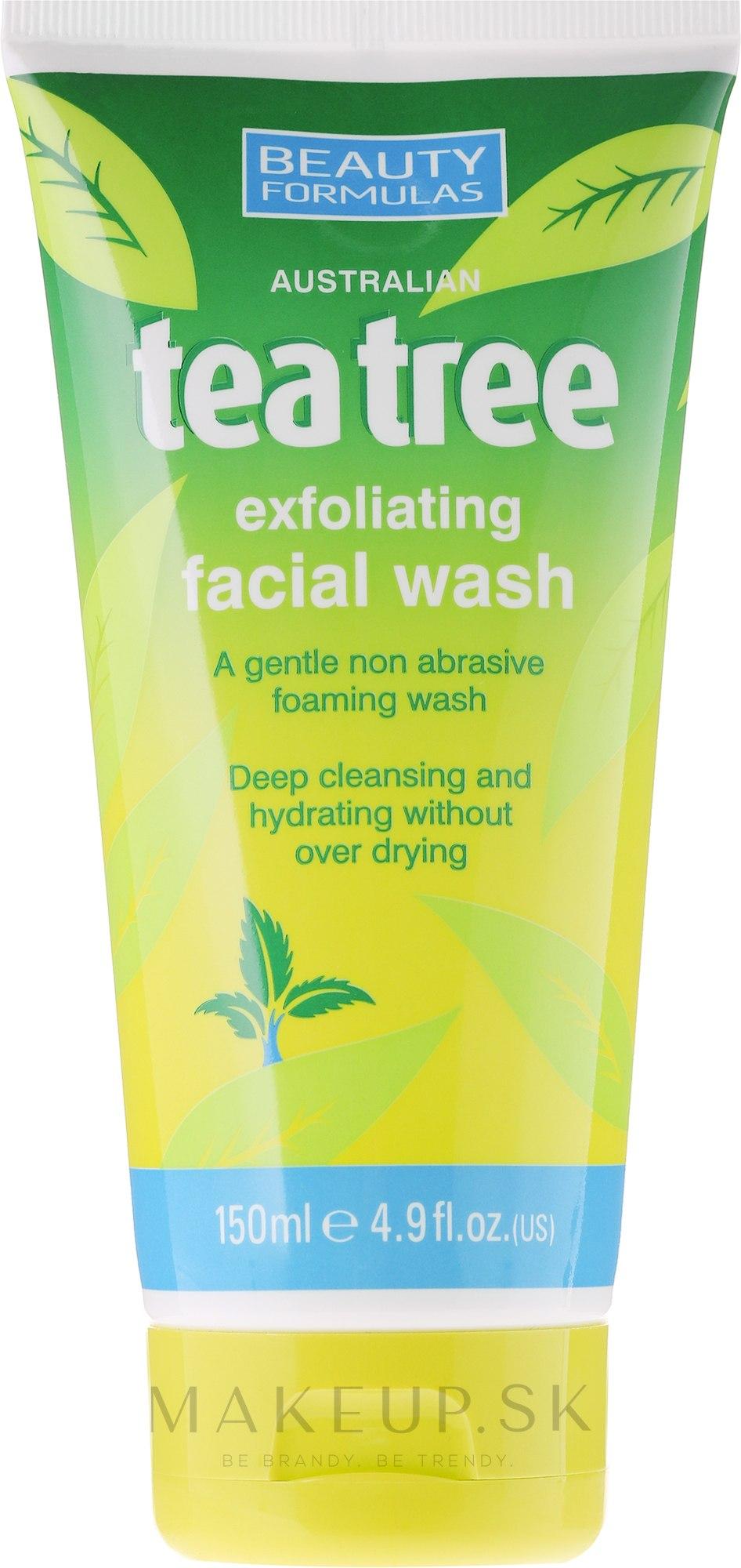 "Gél na umývanie ""Tea Tree"" - Beauty Formulas Tea Tree Exfoliating Facial Wash — Obrázky 150 ml"