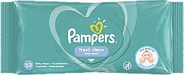 """Voňavky, Parfémy, kozmetika Detské vlhčené utierky """"Baby Fresh Clean"""", 52 ks - Pampers"""