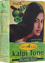 Prášková maska pre tmavé vlasy - Hesh Kalpi Tone Powder — Obrázky N1