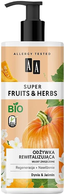"""Obnovujúci kondicionér na vlasy """"Tekvica a jazmín"""" - AA Super Fruits Herbs Conditioner"""