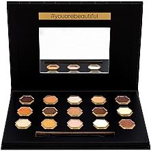 Voňavky, Parfémy, kozmetika Paleta očných tieňov - Cosmetic 2K Polygon Eyeshadow Palette