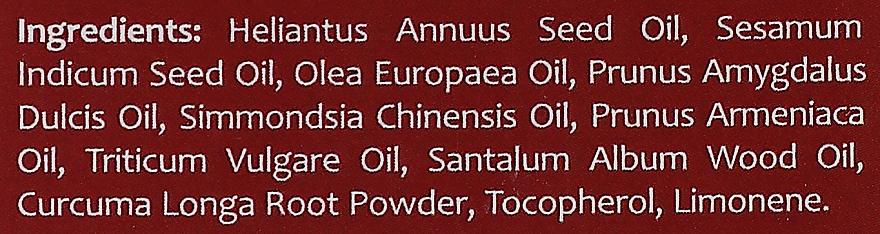 "Olej na tvár ""Santalové drevo a kurkuma"" - Orientana Face Oil Sandalwood & Turmeric — Obrázky N4"