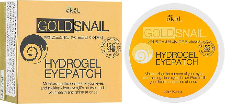 Hydrogélové náplasti pod oči so zlatom a slimačím mucínom - Ekel Ample Hydrogel Eyepatch