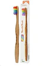 Voňavky, Parfémy, kozmetika Bambusová zubná kefka, dúhová - The Humble Co. Proud Rainbow Soft Toothbrush