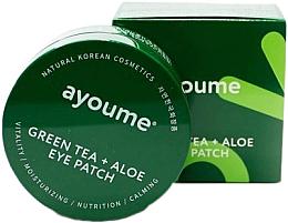 Voňavky, Parfémy, kozmetika Náplasti pod oči s extraktom zo zeleného čaju a aloe - Ayoume Green Tea + Aloe Eye Patch