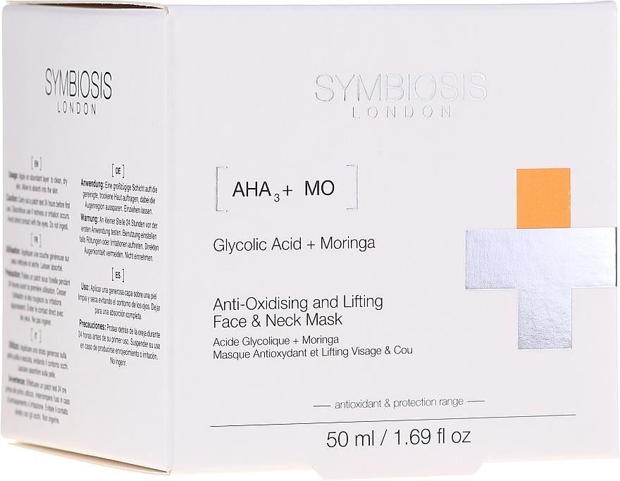 Antioxidačná liftingová maska na tvár a krk - Symbiosis London Anti-oxidising And Lifting Face & Neck Mask