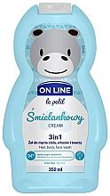 """Voňavky, Parfémy, kozmetika Čistiaci prípravok na vlasy a telo """"Krém"""" - On Line Le Petit Cream 3 In 1 Hair Body Face Wash"""