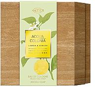Voňavky, Parfémy, kozmetika Maurer & Wirtz 4711 Aqua Colognia Lemon & Ginger - Sada (col 170ml + soap/100g)