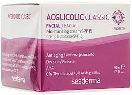 Voňavky, Parfémy, kozmetika Zvlhčujúci krém - SesDerma Laboratories Acglicolic Classic Moisturizing Cream SPF 15