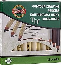 Voňavky, Parfémy, kozmetika Kontúrovacia ceruzka na oči a obočie - Koh-I-Noor Contour Drawing Pencils (12 ks)
