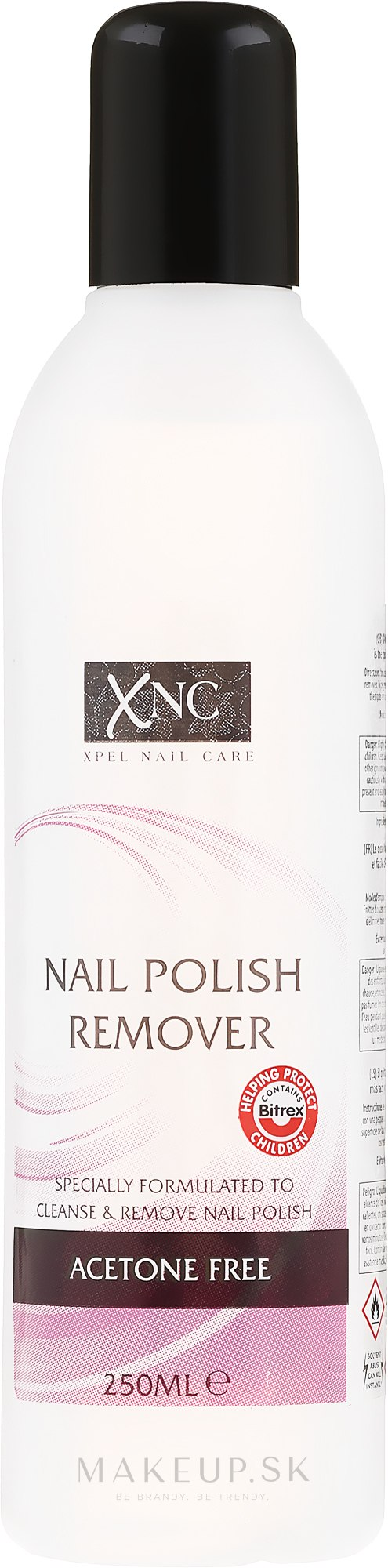 Odlakovač na nechty - Xpel Marketing Ltd Xnc Nail Polish Remover Acetone Free — Obrázky 250 ml