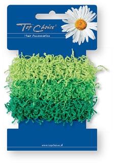 Gumičky do vlasov 3 ks, zelené - Top Choice — Obrázky N1