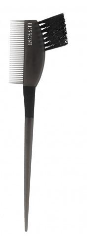 štetec na farbenie vlasov s s hrebeňom, čierna - Lussoni