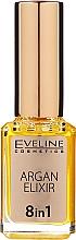 Voňavky, Parfémy, kozmetika Olej na kutikuly na báze arganového oleja 8v1 - Eveline Cosmetics Argan Elixir