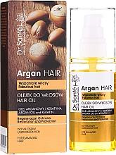 """Voňavky, Parfémy, kozmetika Olej na vlasy """"Regenerácia a ochrana"""" s arganovým olejom a keratínom - Dr. Sante Argan Hair"""