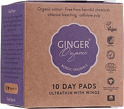 Voňavky, Parfémy, kozmetika Denné hygienické vložky, 10 ks - Ginger Organic