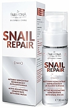 Voňavky, Parfémy, kozmetika Aktívny omladzujúci koncentrát so slimačím slizom - Farmona Professional Snail Repair Active Rejuvenating Concentrate With Snail Mucus
