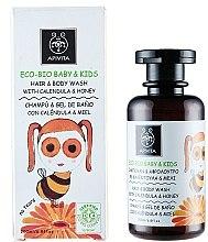 Voňavky, Parfémy, kozmetika Jemný čistiaci prostriedok na telo a vlasy s nechtíkom a medom - Apivita Babies & Kids Eco Bio Baby Kids Hair & Body Wash With Calendula & Honey
