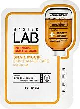 Voňavky, Parfémy, kozmetika Látková maska na tvár s mucinom slimáka - Tony Moly Master Lab Snail Mucin Mask