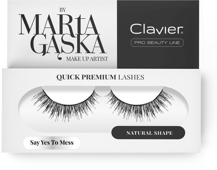Falošné mihalnice - Clavier Quick Premium Lashes Say Yes To Mess SK09