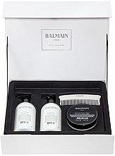 Voňavky, Parfémy, kozmetika Sada - Balmain Paris Hair Couture Silver Revitalizing Care Set (mask/200ml+h/couture/300ml+shampoo/300ml+brush)