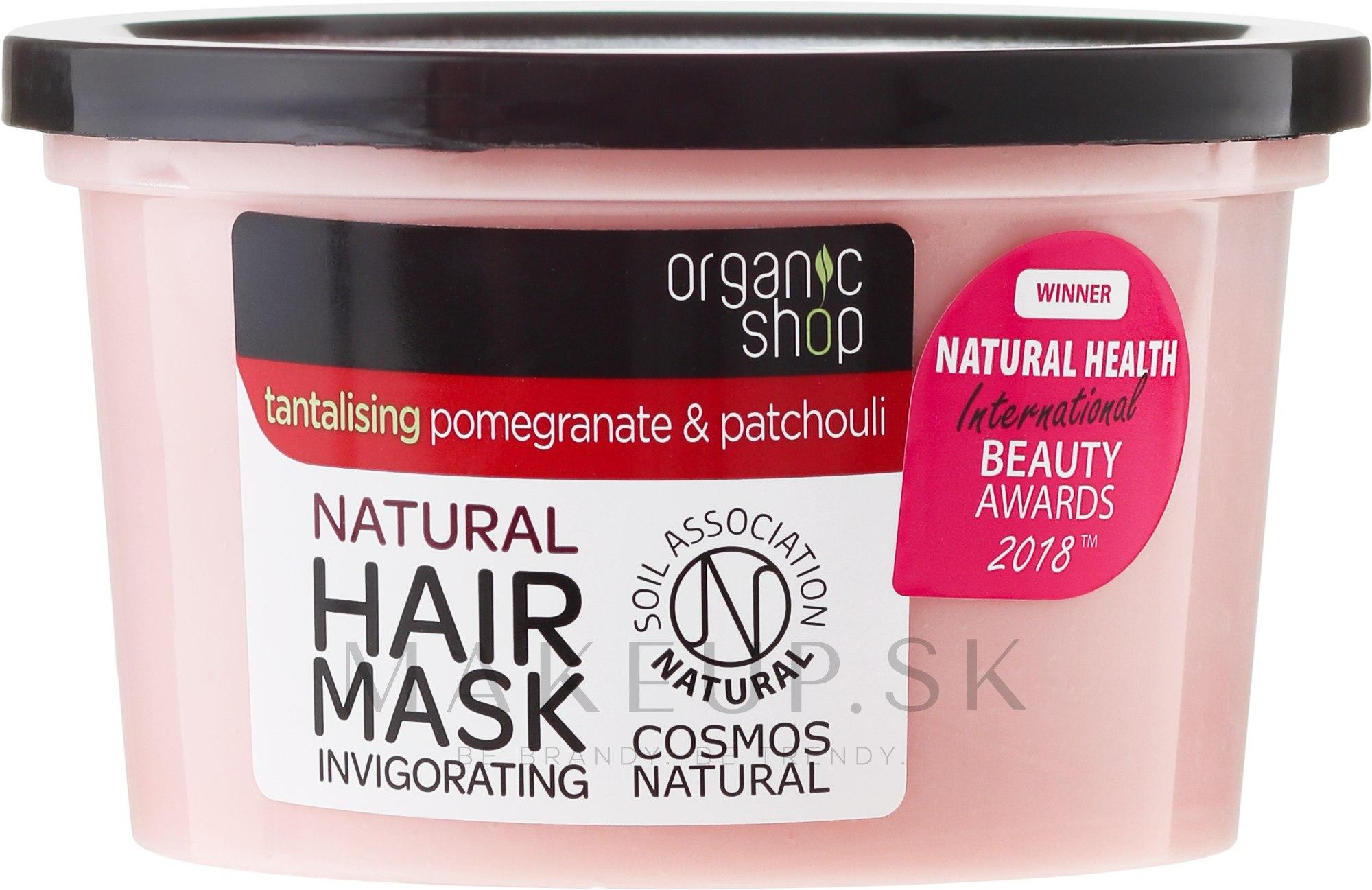 """Maska na vlasy """"Granátové jablko a pačuli"""" - Organic Shop Mask Pomegranate and Patchouli — Obrázky 250 ml"""