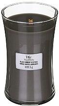 Voňavky, Parfémy, kozmetika Vonná sviečka v pohári - WoodWick Hourglass Candle Black Amber And Citrus