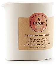 "Voňavky, Parfémy, kozmetika Masážna sviečka ""Citrusová hydratácia"" - Flagolie Citrus Hydration Massage Candle"