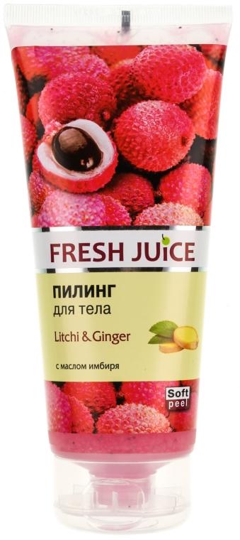 "Telový peeling ""Liči a zázvor"" - Fresh Juice Litchi & Ginger"
