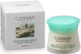 Voňavky, Parfémy, kozmetika Hydratačný krém s SPF-15 pre normálnu a suchú pokožku - Canaan Minerals & Herbs Moisturizing Cream with SPF 15 Normal to Dry Skin