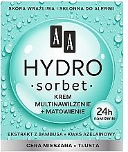 Voňavky, Parfémy, kozmetika Matujúci viacnásobný hydratačný krém na tvár - AA Hydro Sorbet Moisturising & Mattifying Cream