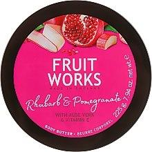 """Voňavky, Parfémy, kozmetika Olej na telo """"Rebarbora a granátové jablko"""" - Grace Cole Fruit Works Body Butter Rhubarb & Pomegranate"""