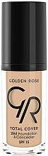 Voňavky, Parfémy, kozmetika Make-up a korektor - Golden Rose Total Cover 2in1 Foundation & Concealer