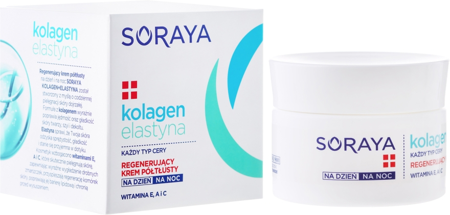 Regeneračný krém proti vráskam - Soraya Collagen + Elastin Regenerating Semi-Rich Day and Night Cream