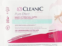Voňavky, Parfémy, kozmetika Odličovacie utierky pre normálnu pleť, 10 ks - Cleanic Pure Effect Moisturizing