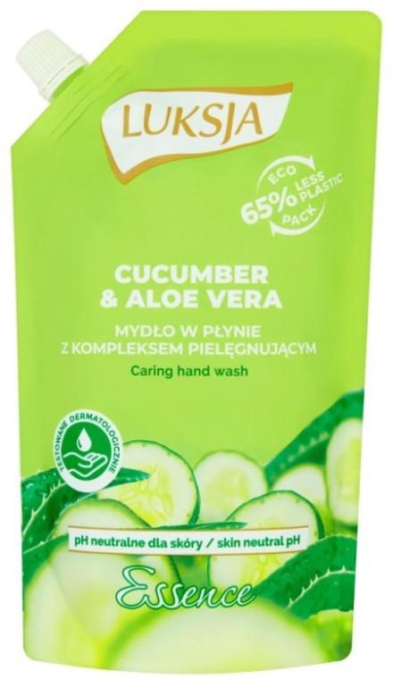 """Tekuté krémové mydlo """"Uhorka a aloe"""" - Luksja Cucumber & Aloe Soap (doy pack)"""
