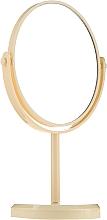 Voňavky, Parfémy, kozmetika Zrkadlo na stojane oválne 85710, žlté - Top Choice Beauty Collection Mirror