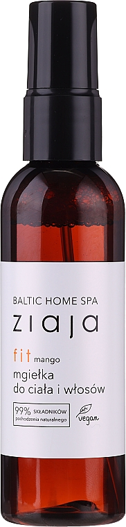 "Sprej na vlasy a telo ""Mango"" - Ziaja Baltic Home Spa FIT Mango Body and Hair Mist"