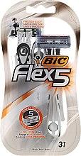 Voňavky, Parfémy, kozmetika Jednorazový pánsky holiaci strojček - Bic Flex 5 Dispo