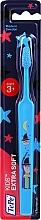 Voňavky, Parfémy, kozmetika Detská zubná kefka od 3 rokov, modrá s kúzelníkom  - TePe Kids Extra Soft