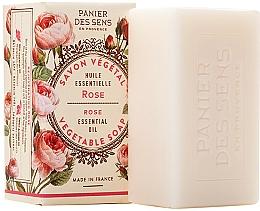 """Voňavky, Parfémy, kozmetika Extra jemné rastlinné mydlo """"Ruža"""" - Panier des Sens Rose Extra-Gentle Vegetable Soap"""