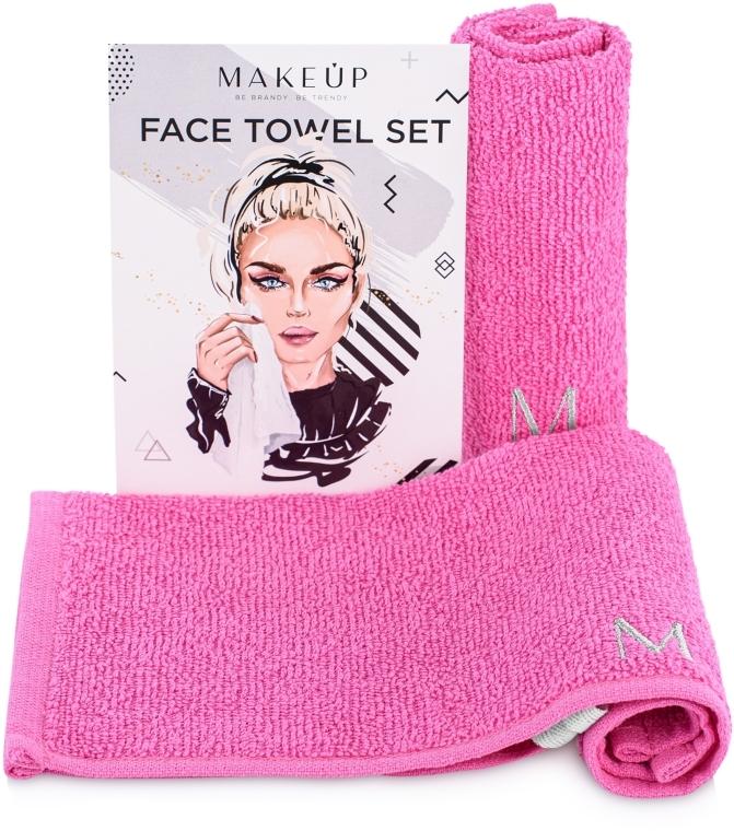 """Cestovná sada uterákov na tvár, ružové """"MakeTravel"""" - Makeup Face Towel Set"""