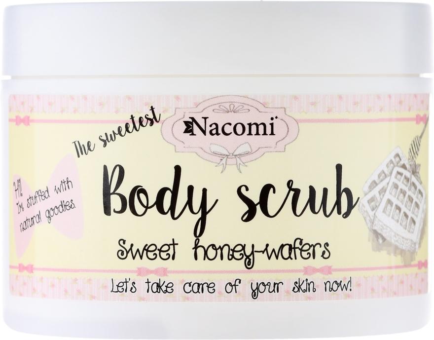 "Peelingový telový peeling ""Sladké medové vafle"" - Nacomi Body Scrub Sweet Honey Wafers"