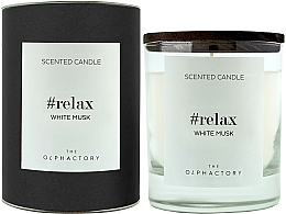 """Voňavky, Parfémy, kozmetika Vonná sviečka """"Biele pižmo"""" - Ambientair The Olphactory Relax White Musk Black Design"""