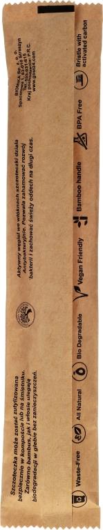 Zubná kefka bambusová, mäkká - Biomika Natural Bamboo Toothbrush — Obrázky N3